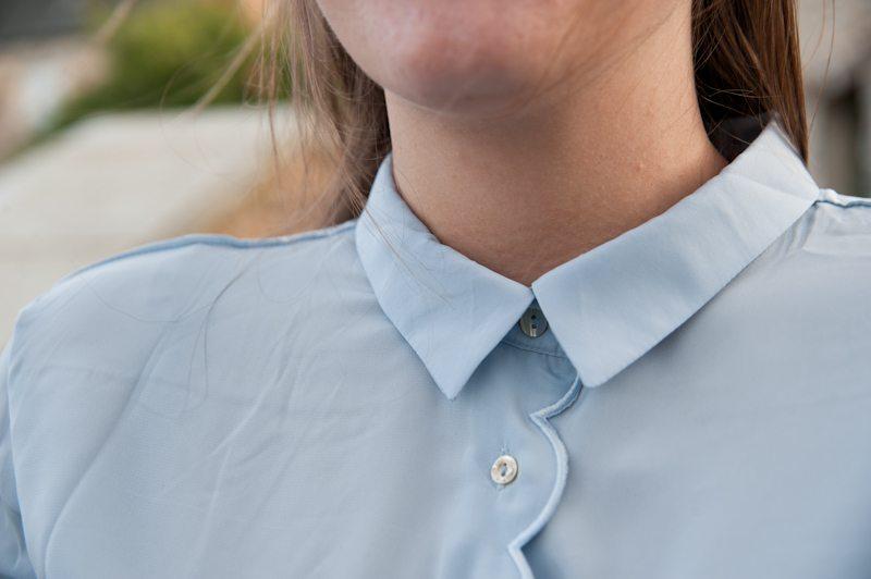 chemise festonnée h&m