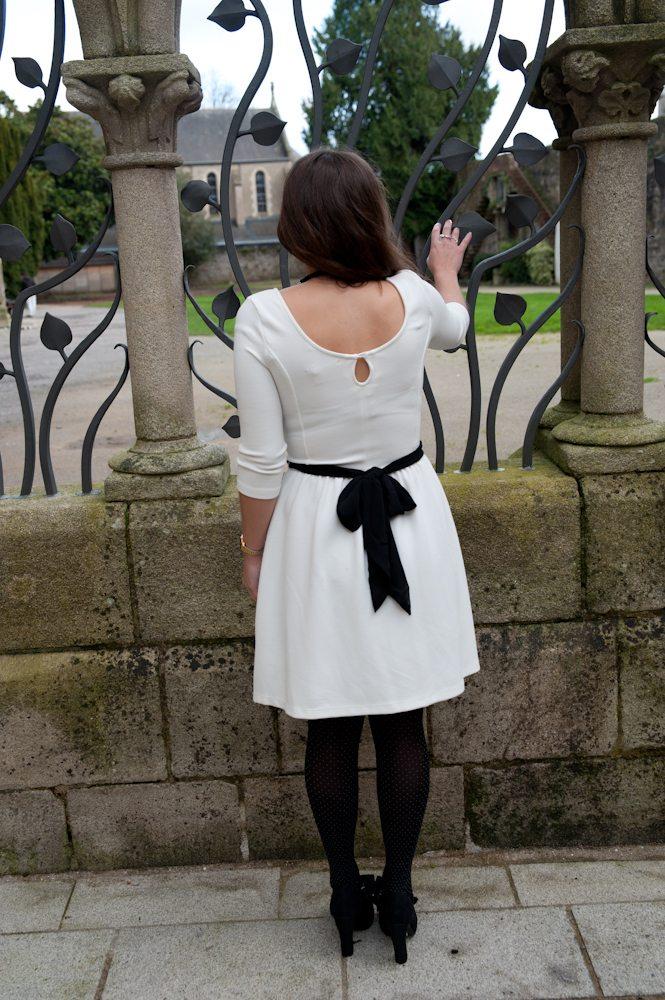 robe blanche bershka