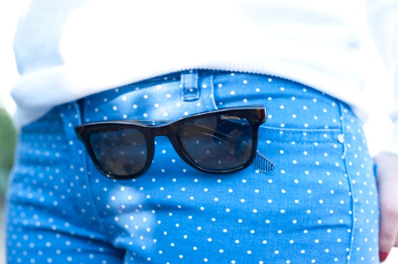 Blue Jeans (oui mais à pois !)