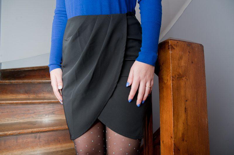 jupe drapée femme