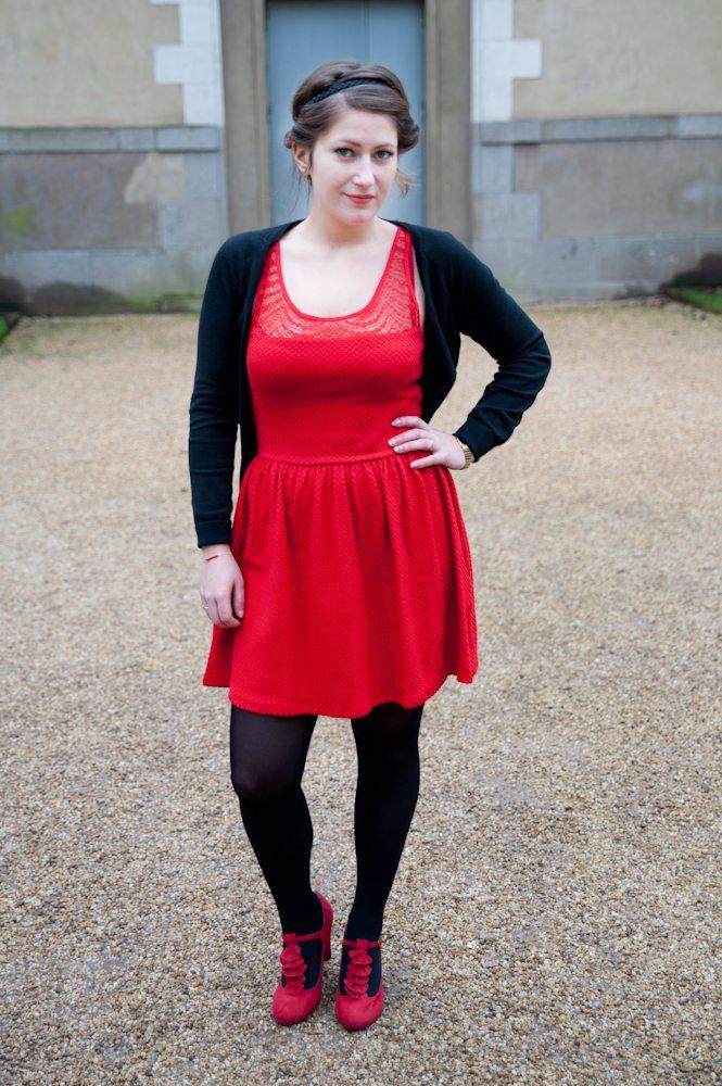 robe rouge femme berhska