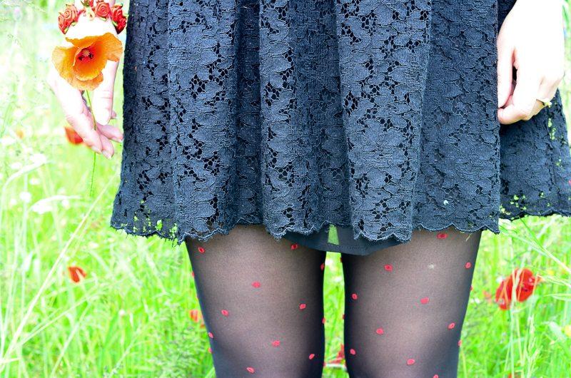 robe dentelle noire femme