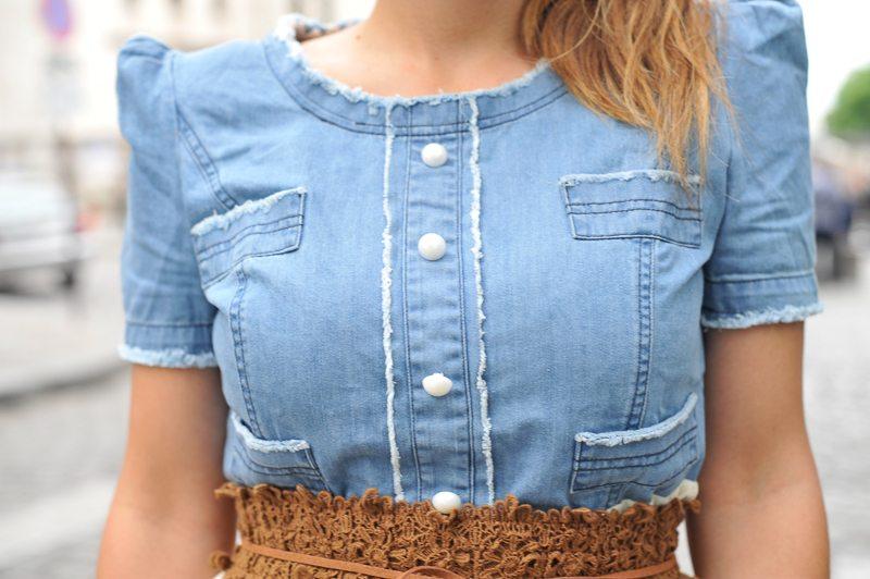 robe jean femme