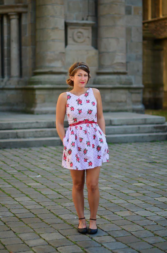 robe top shop fleurs