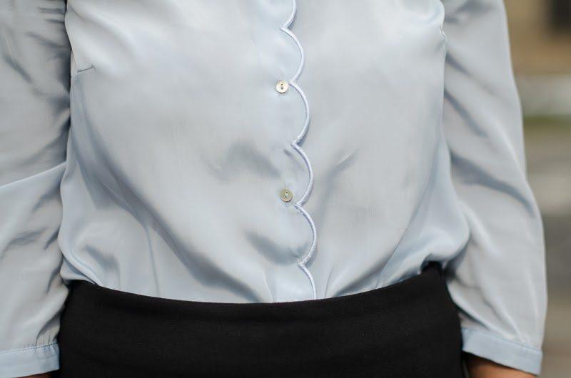 chemise festonnée