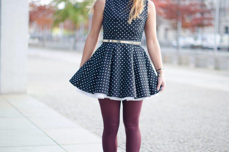 robe girly petit pois