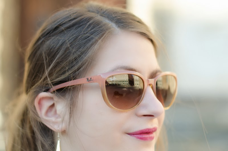 lunettes ray ban rose