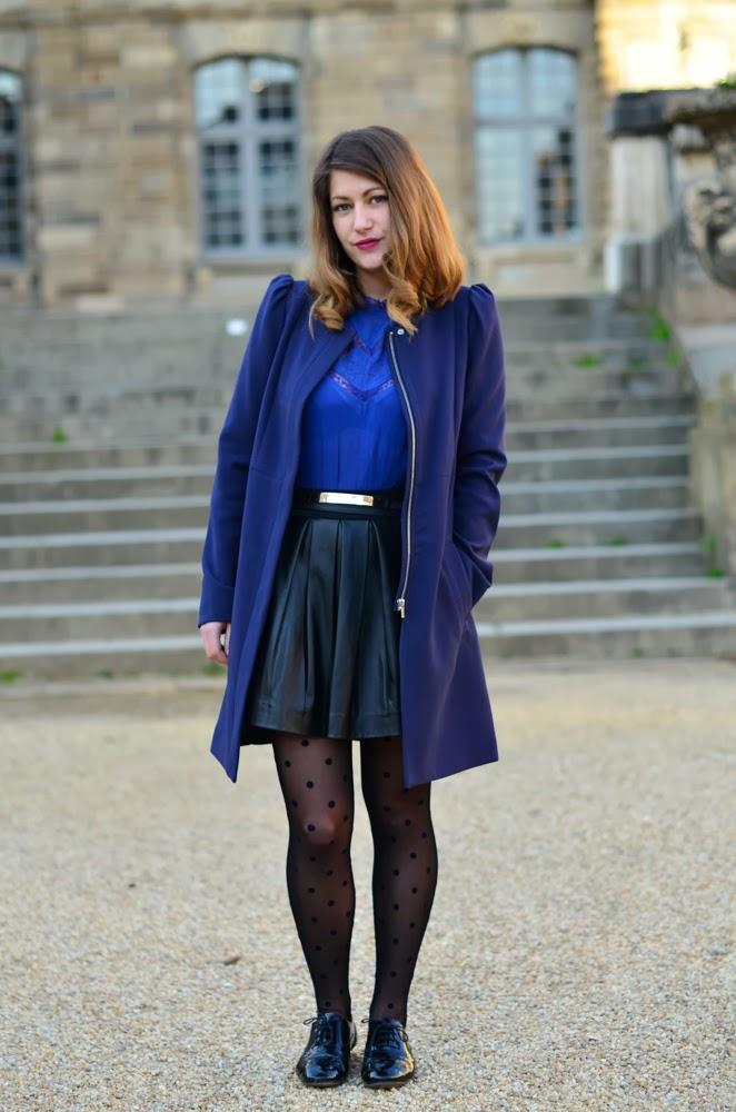 tenue camaieu de bleu femme