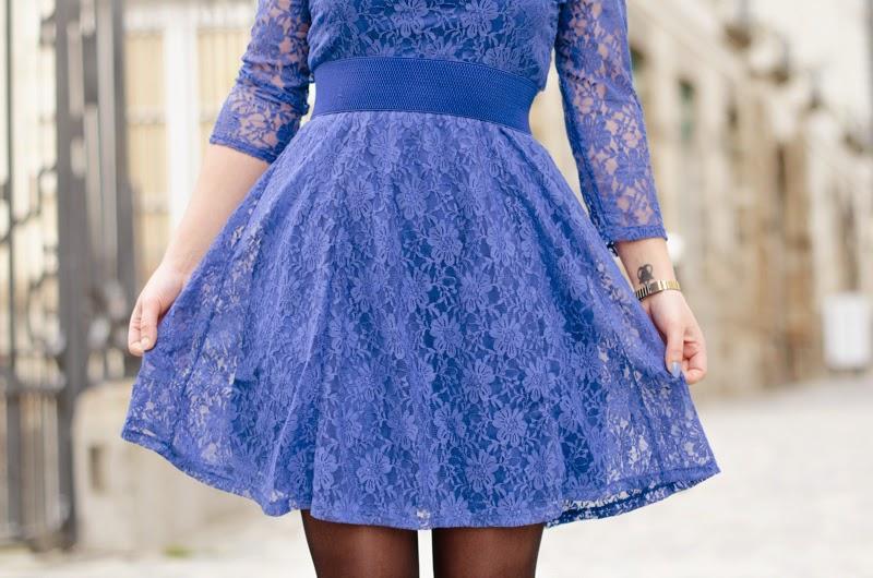 robe bleu persun