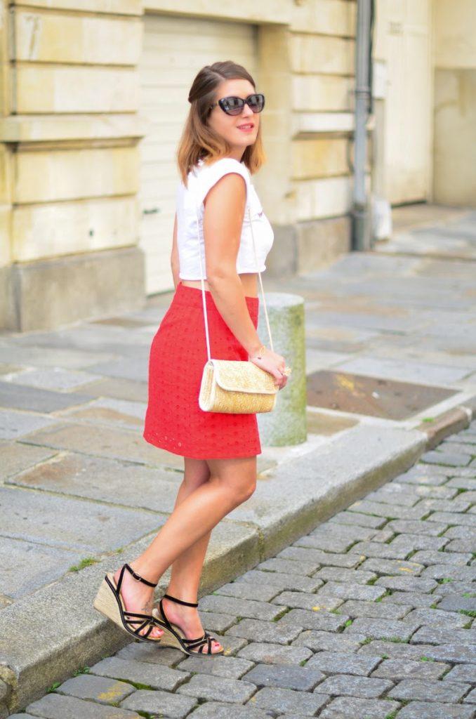 jupe rouge femme