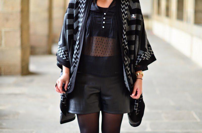 tenue new look short cuir