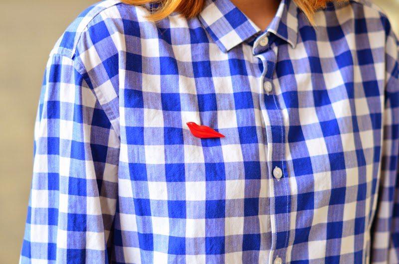 chemise vichy bleu