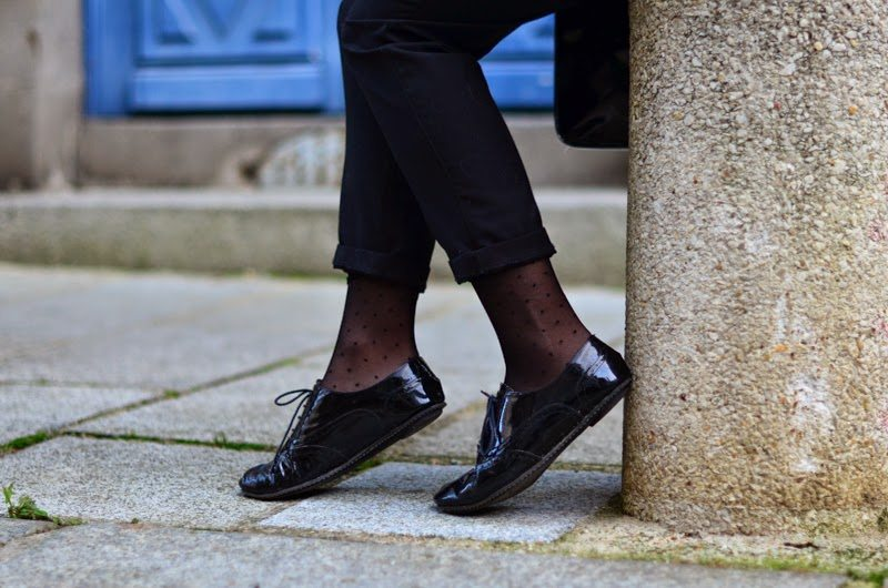 derbies vernis noires