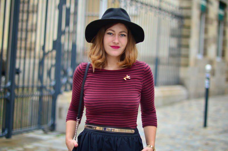 jupe évasée chapeau femme