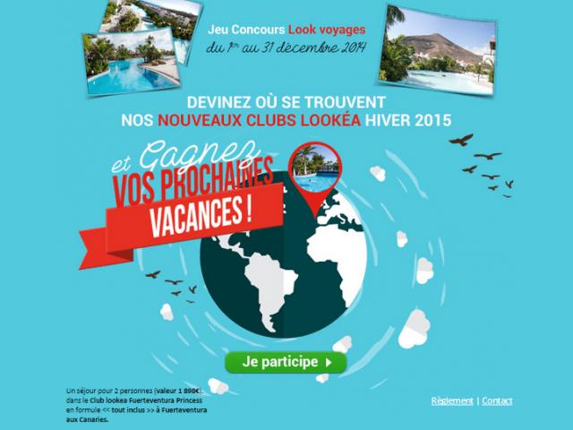 Jeu Concours Look Voyage