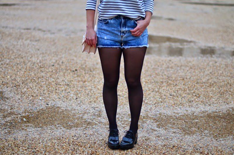mariniere short en jean