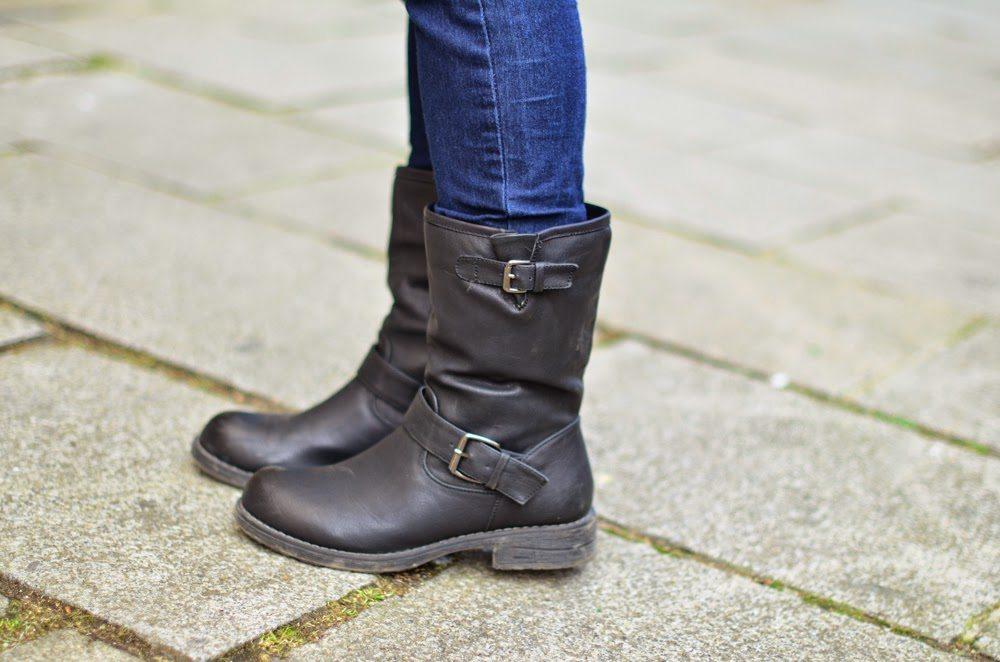 bottes motardes femme