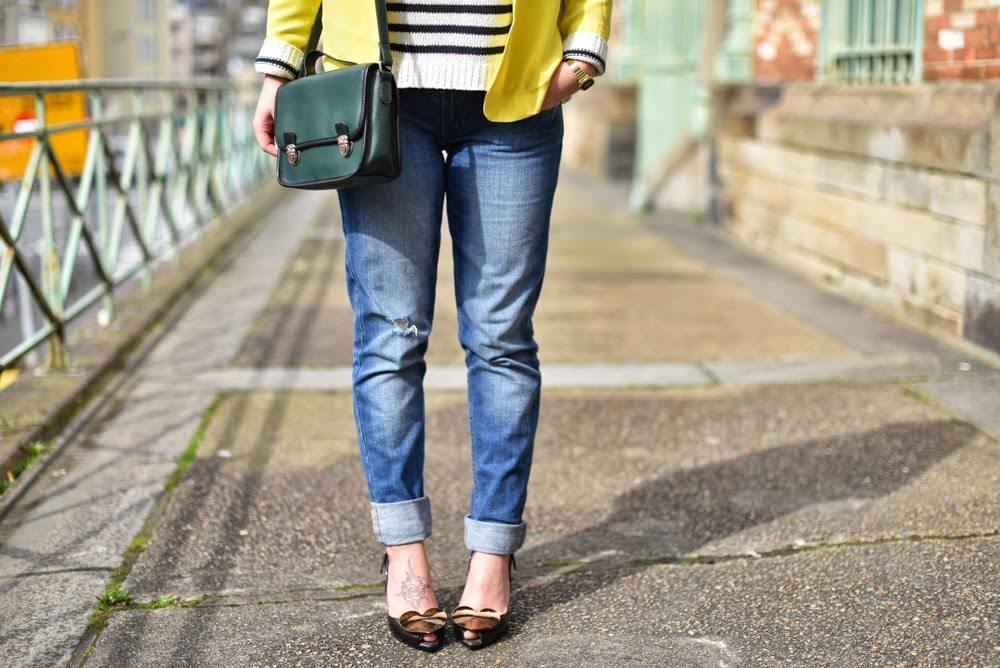 blazer jaune femme