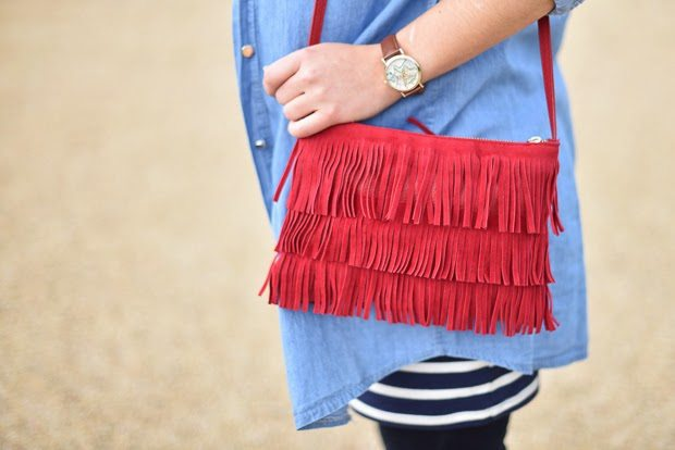 sac franges rouges