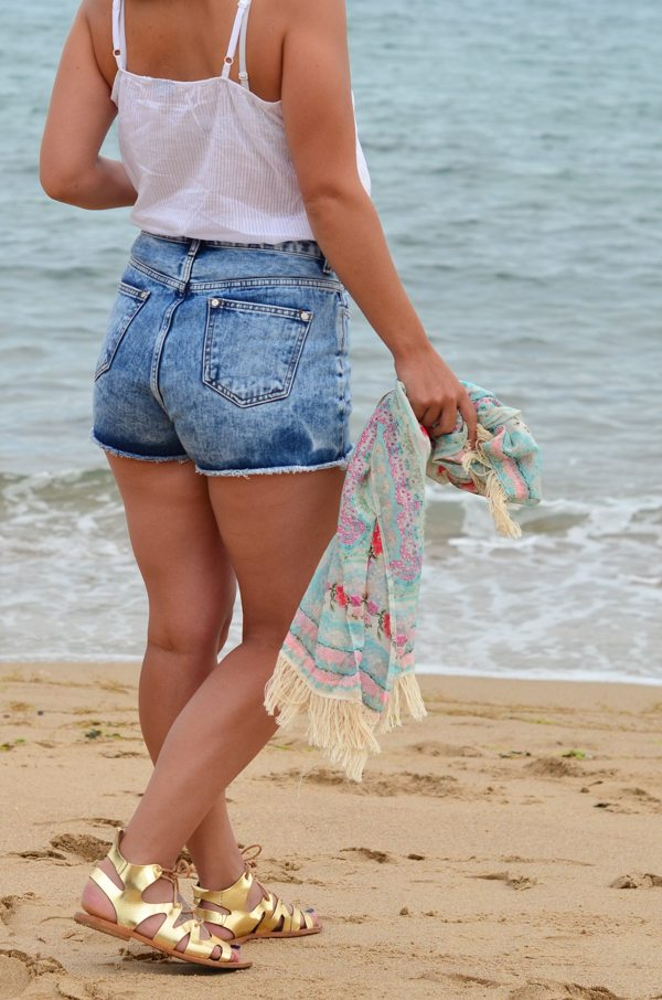 short jean femme
