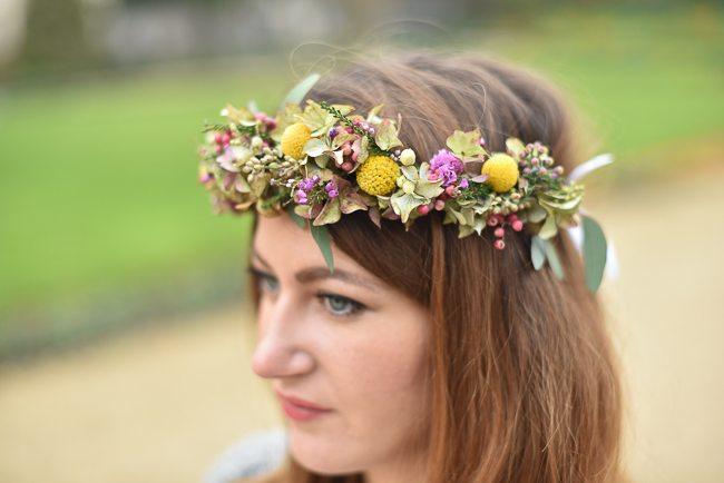 couronne de fleur DIY look romantique
