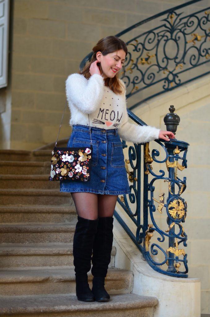 pull doudou jupe en jean