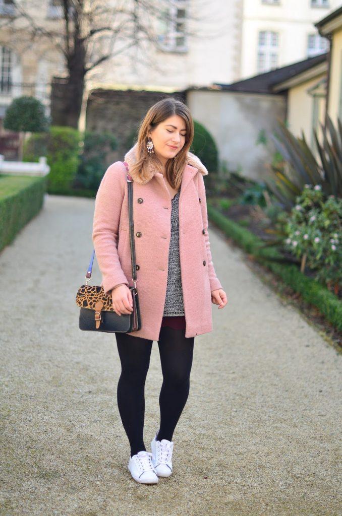 manteau rose zara