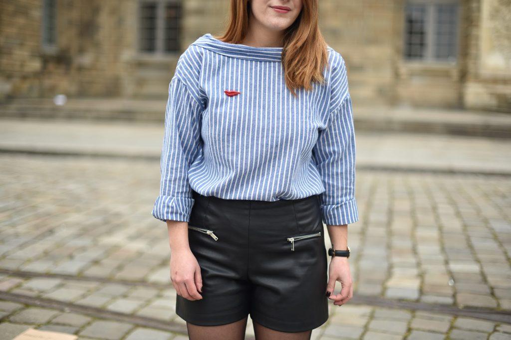 short cuir femme