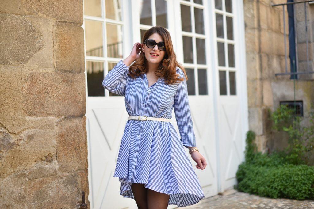 robe rayures bleu blanc