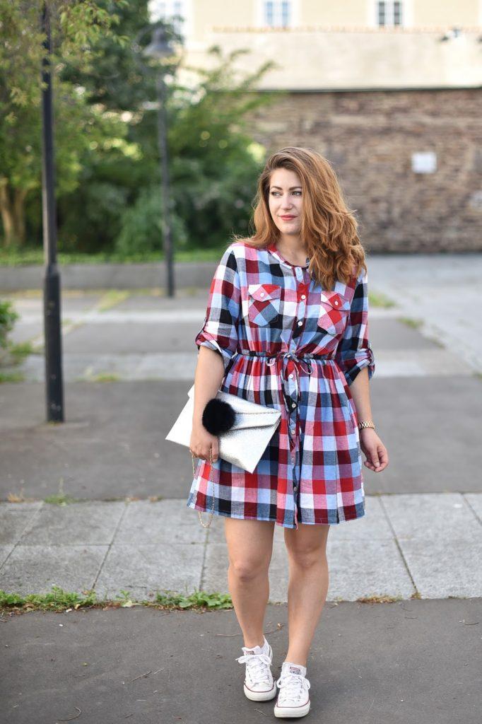 robe carreaux femme