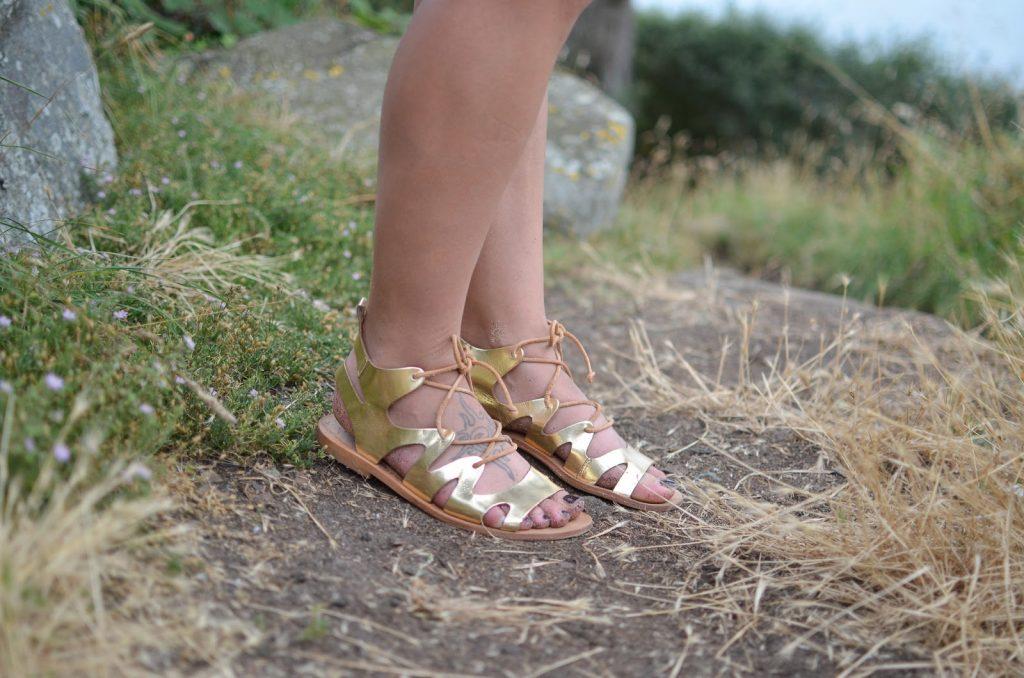 sandales dorées topshop