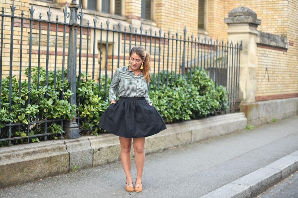 jupe très évasée femme