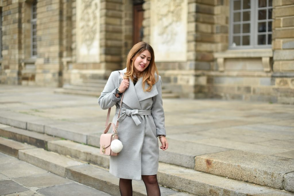 manteau femme gris kiabi