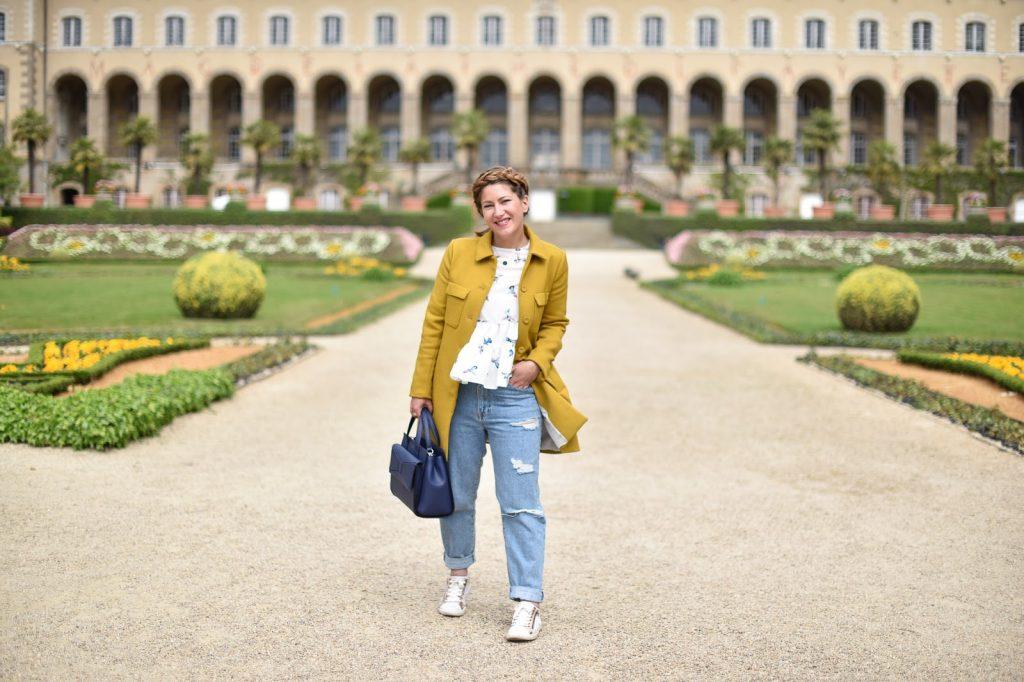 manteau moutarde femme