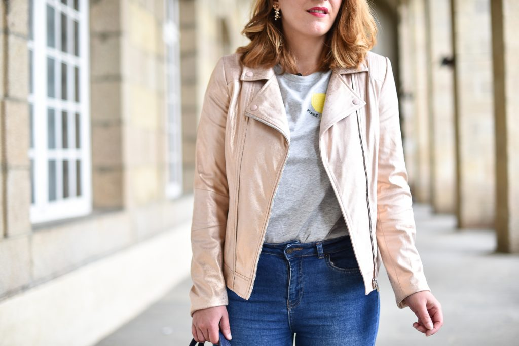 veste breal sac kate spade et tee shirt citron