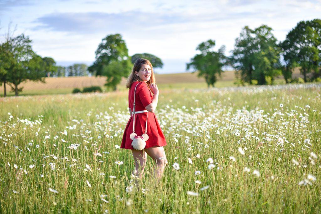robe rouge patineuse zara