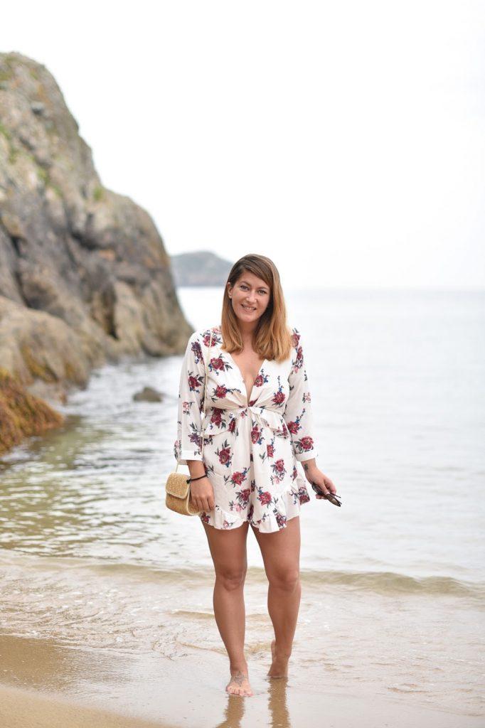 combishort tenue de plage