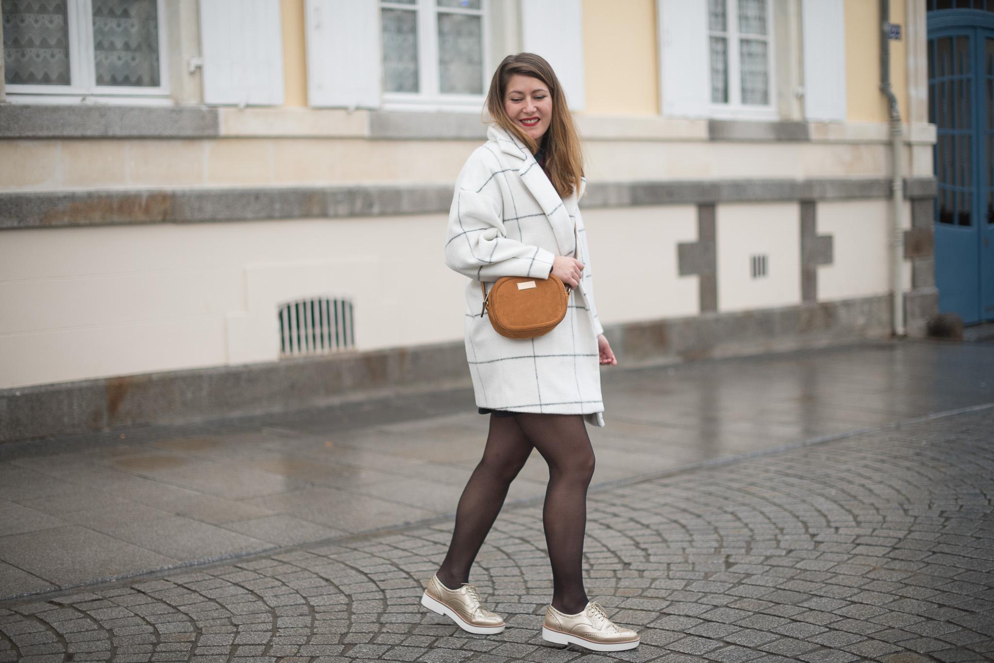 look hiver automne froid manteau doudou