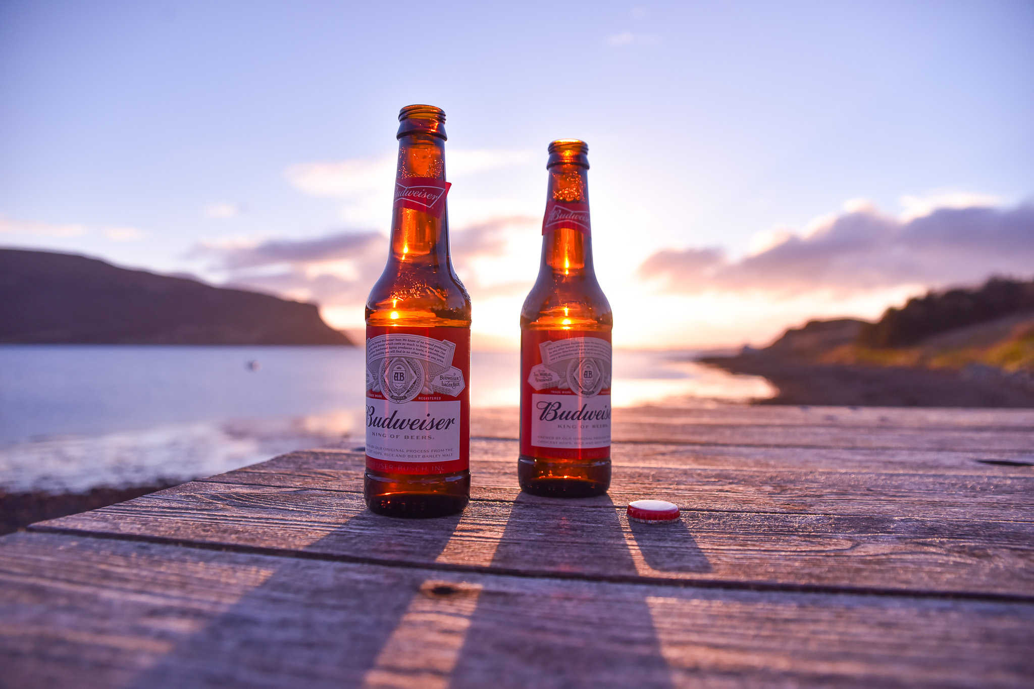 bud budweiser biere ecosse road trip