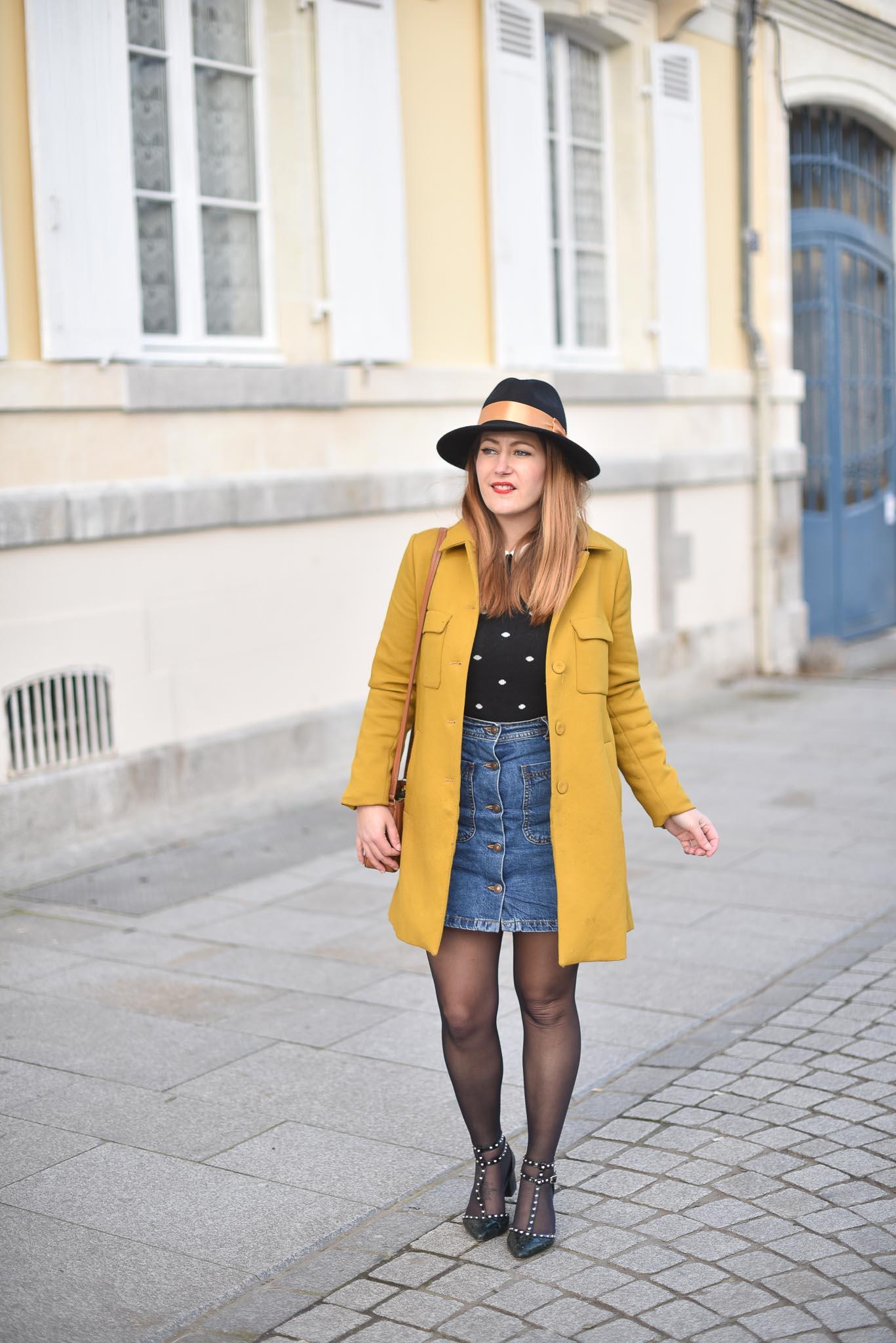 manteau moutarde zara