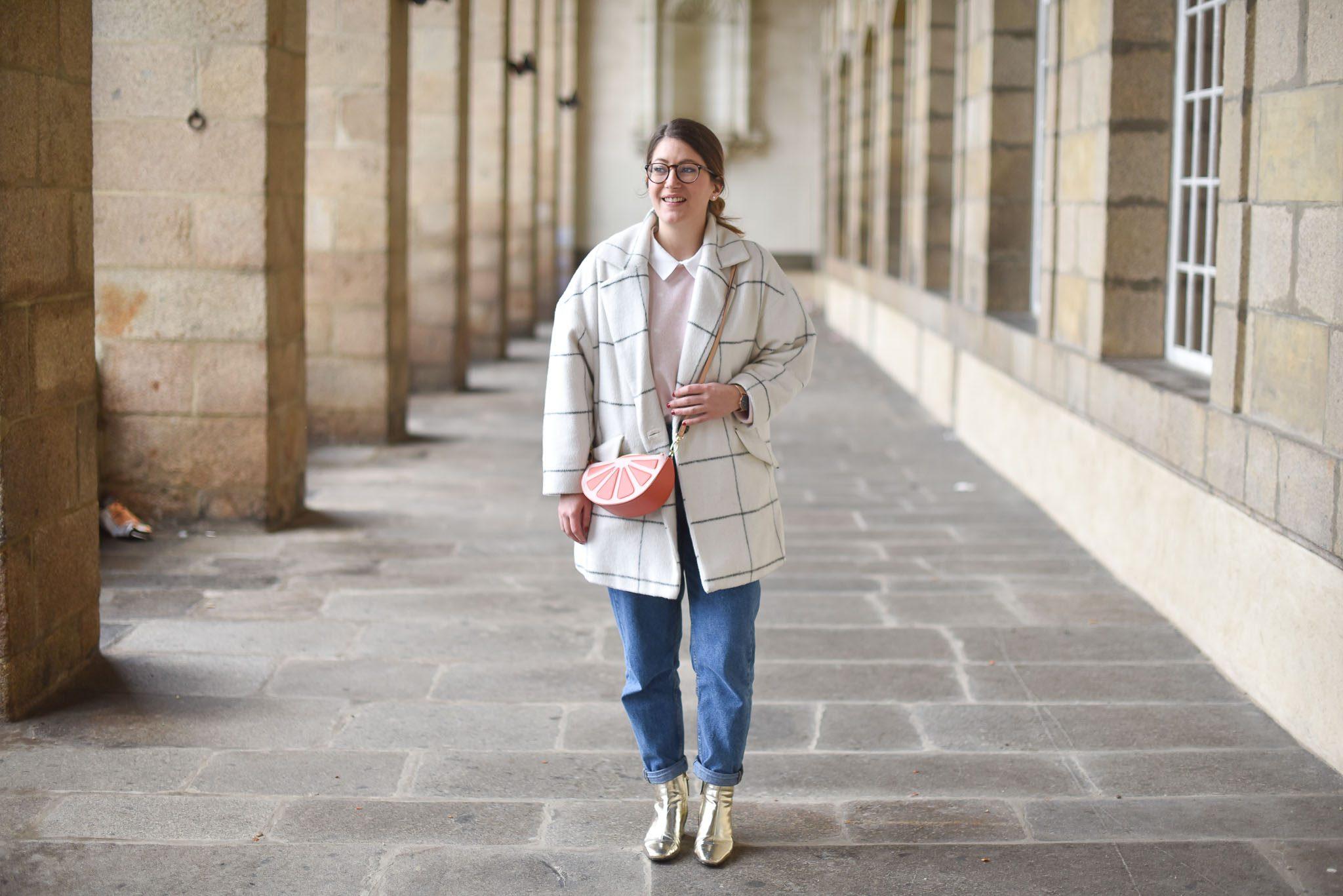 manteau carreaux femme