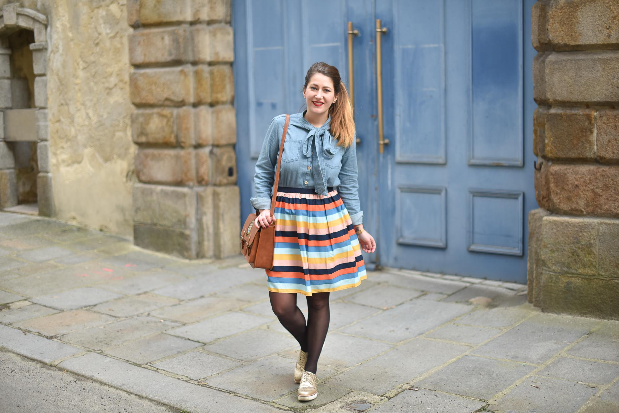 joanie clothing jupe rayures