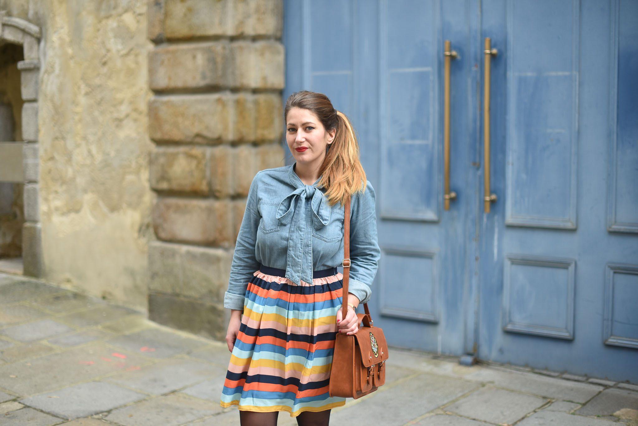 joanie clothing jupe chemise en jean