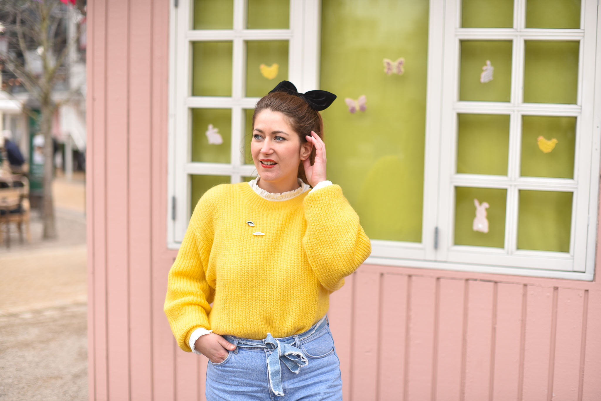 pull jaune femme