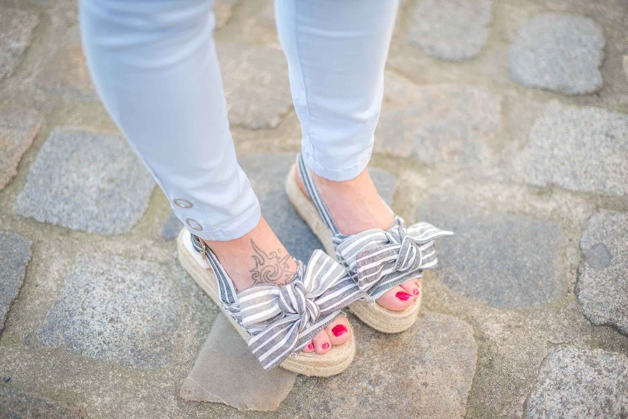 sandales noeuds stradivarius