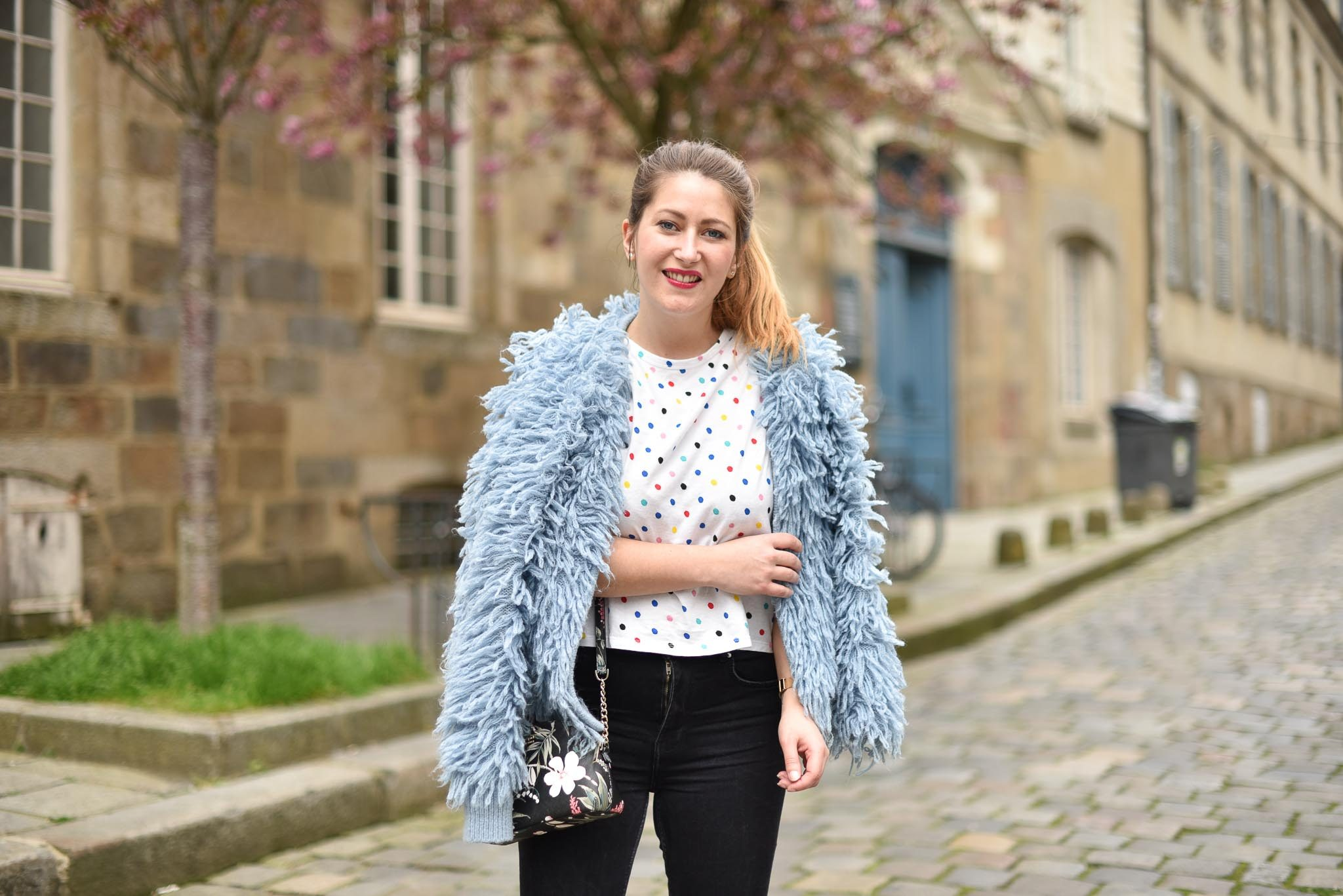 gilet other stories bleu laine