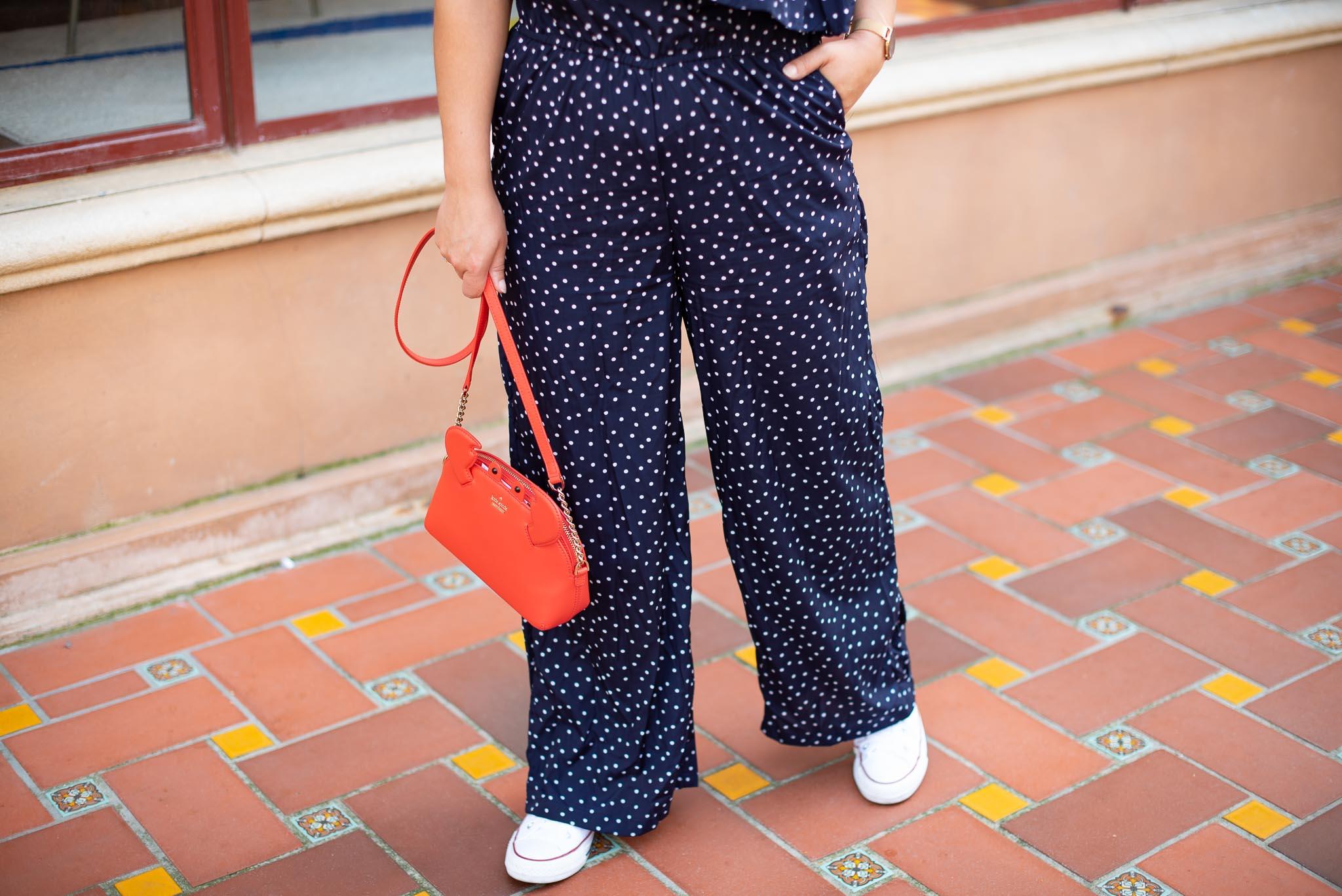 pantalon petits pois femme