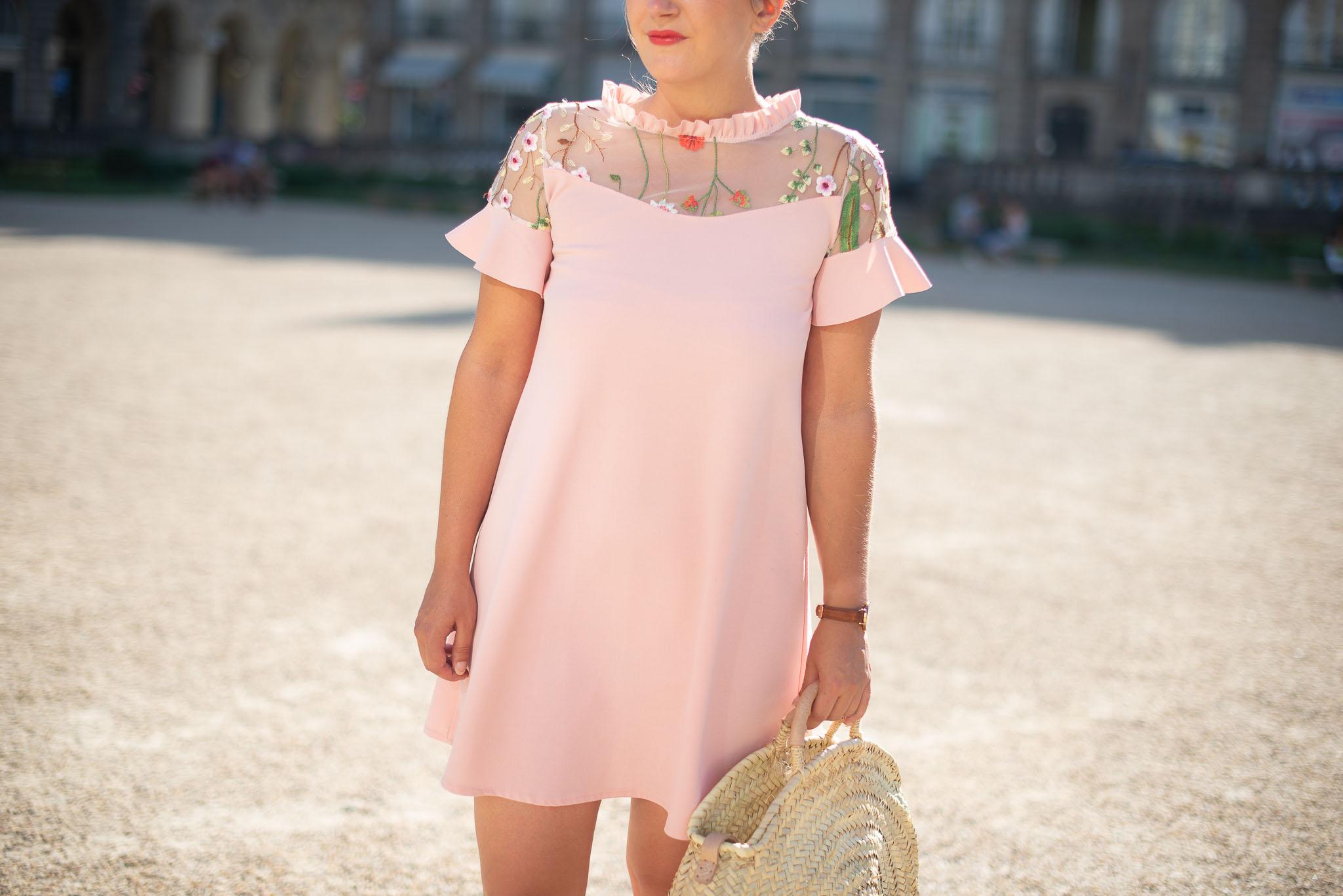 robe rose été femme