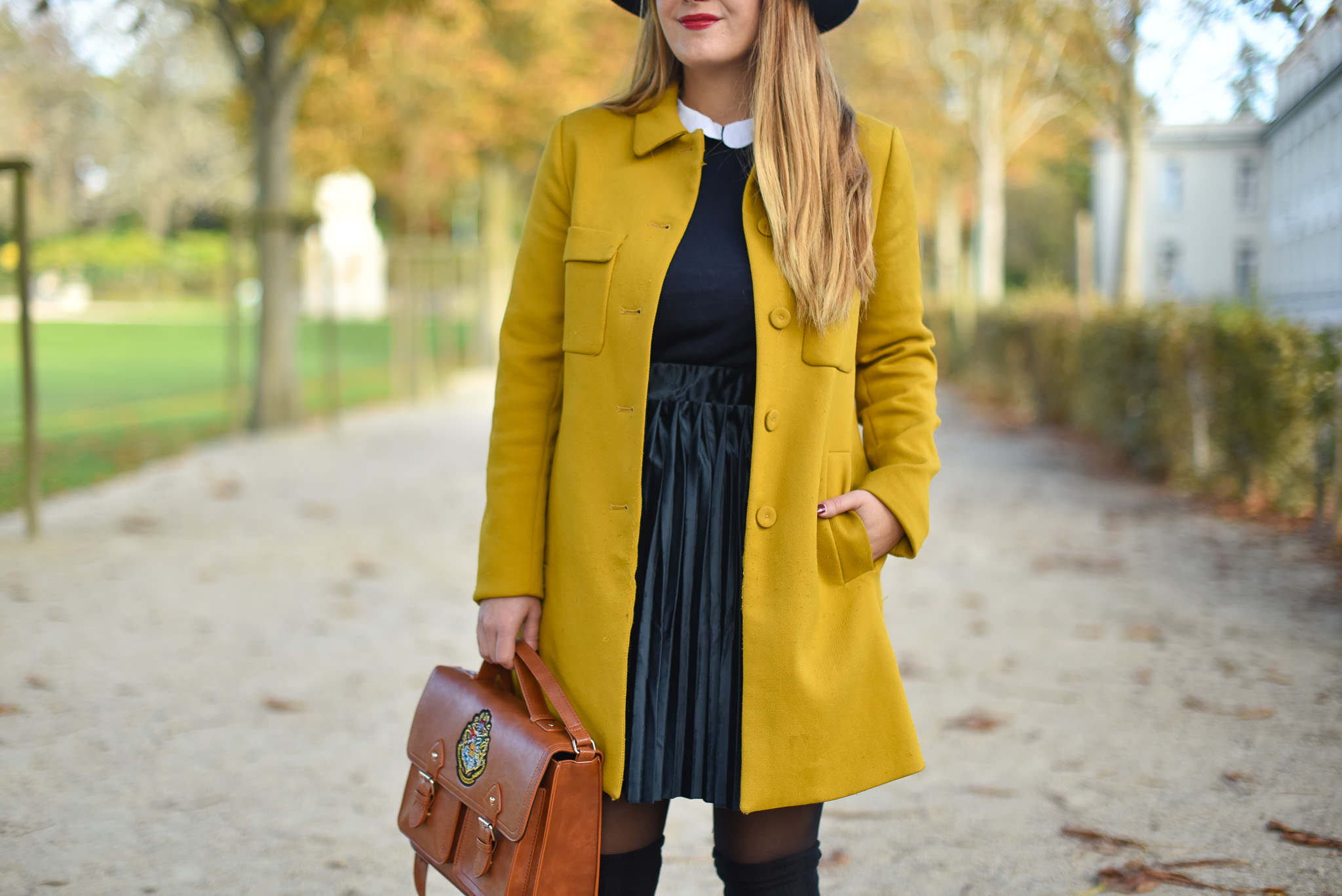 manteau moutarde zara