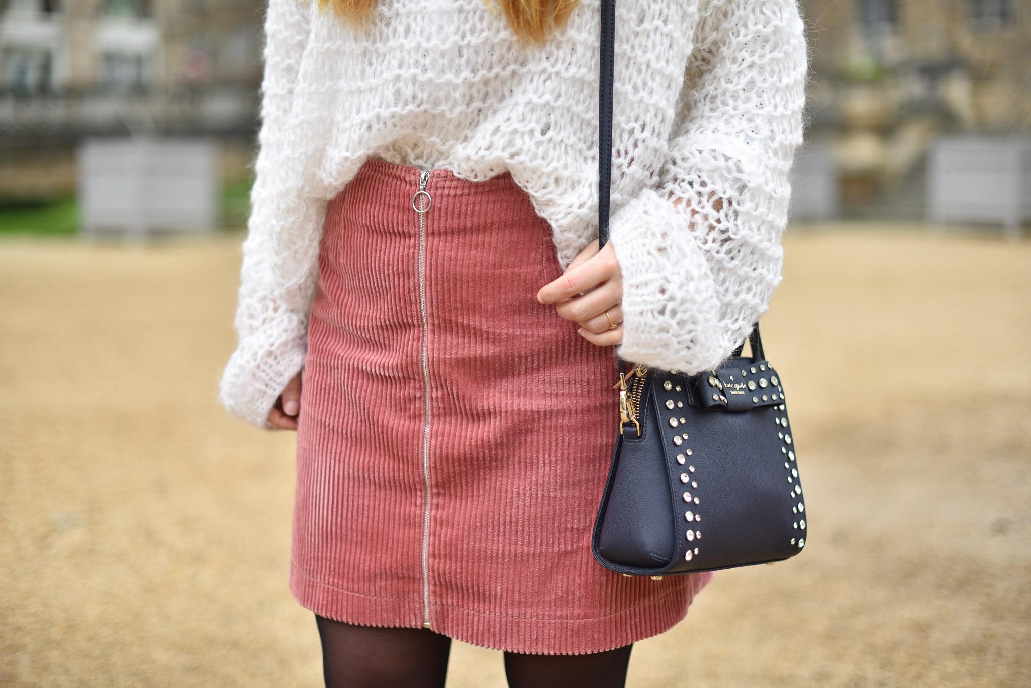 jupe velours cache cache